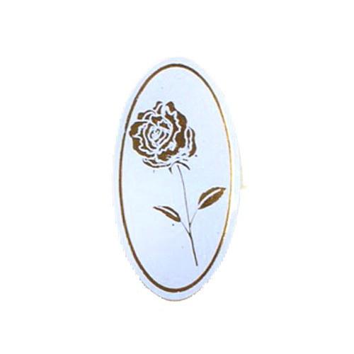 Etiketten Rose weiß/gold (500 Stück)