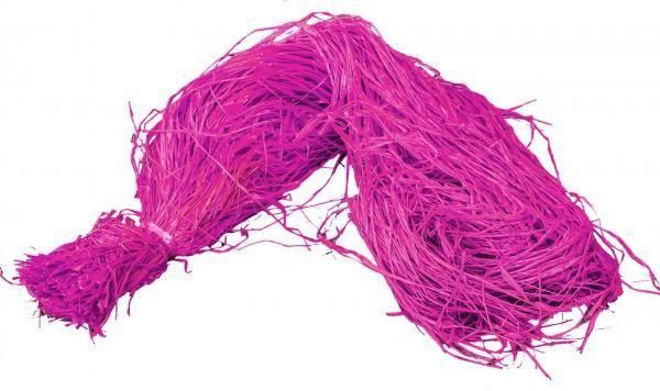 Raphia Bast gefärbt pink 500g