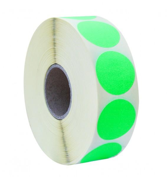 Etikett d=36 2000 fluor grün