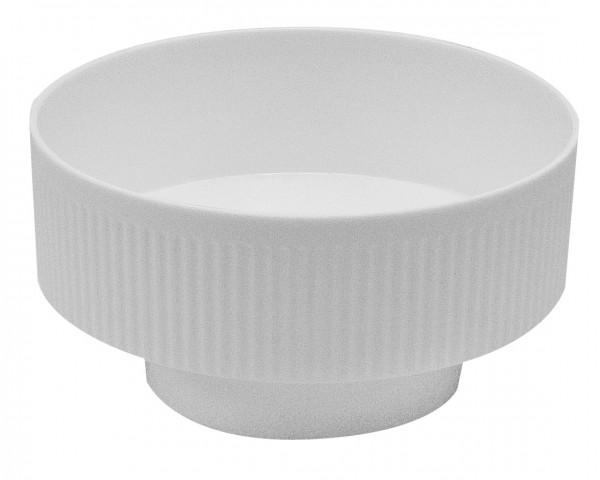 Steckschale weiß rund 10cm 10 Stück