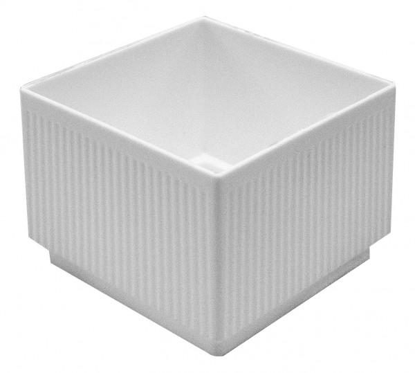 Steckschale weiß eckig 7,5x7,5cm 10 Stück