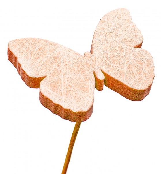 Beistecker Schmetterling Schaum orange 7cm (25 Stück)