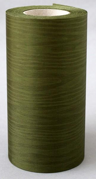 Kranzband Moire 150mm 25m moosgrün